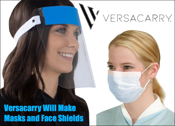 Versacarry face mask covid-19 coronavirus health care holster