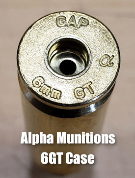 6gt brass cartridge Alpha Munitions PRS 6mm Dasher