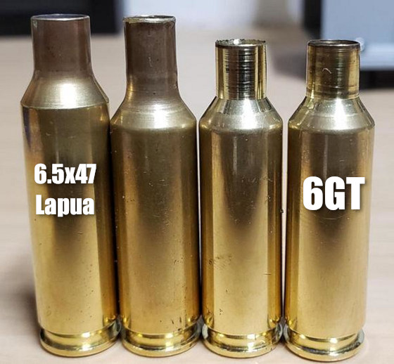 6GT Cartridge PRS NRL brass 6.5x47 Lapua fire-formed neck-turn project