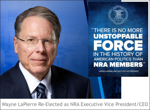 Wayne LaPierre NRA CEO executive Vice President Charlotte NC meeting