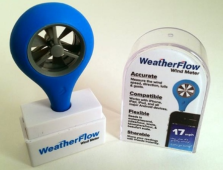weatherflow wind meter anemometer wind gauge turbine smart phone iphone app