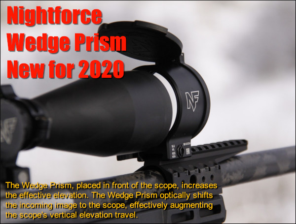 Nightforce Wedge Prism optic ELR Elevation device