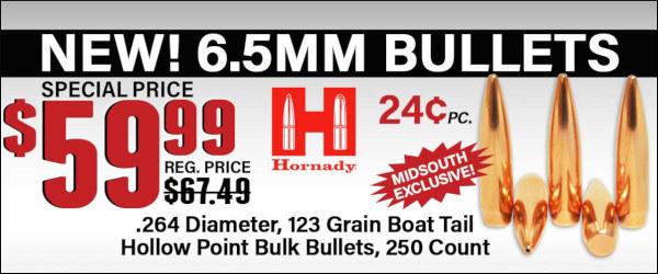 Hornady HPBT 123gr 6.5mm Creedmoor bullet sale
