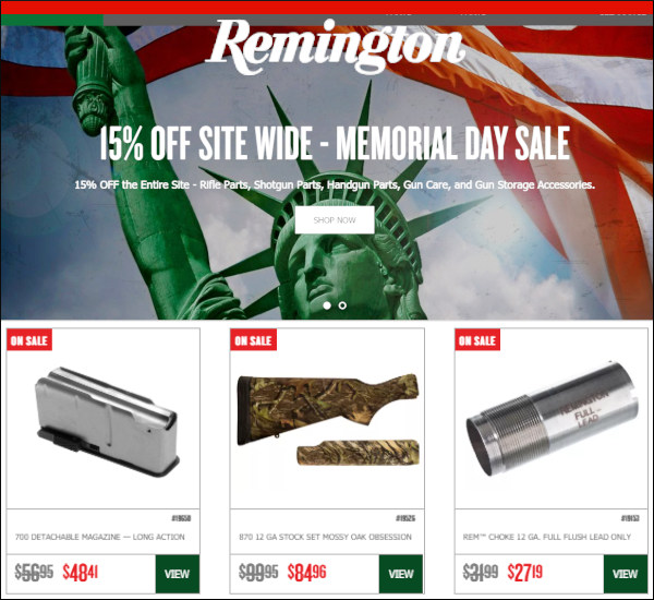 remington memorial day sale