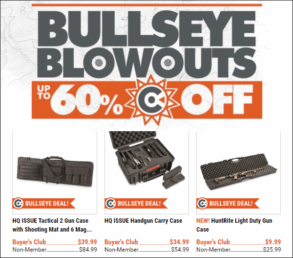 Sportsman's Guide Sale Bullseye Blowout Sale Deal