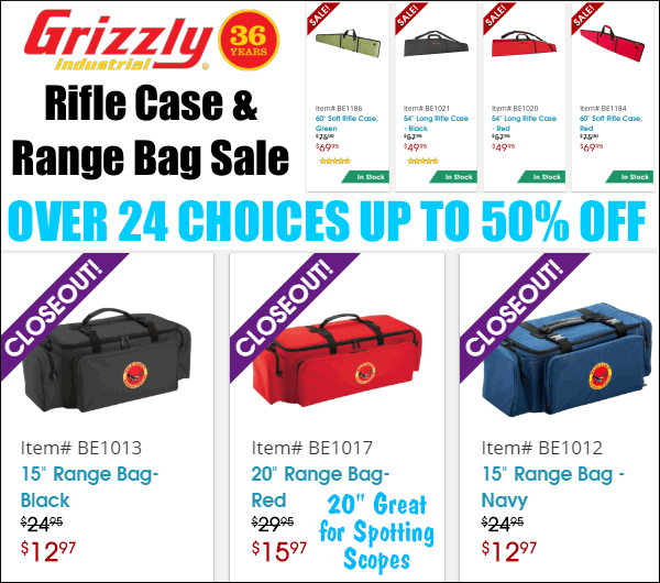 Deals of the week Grizzly rifle case gun bag utility case blowout closeout sale