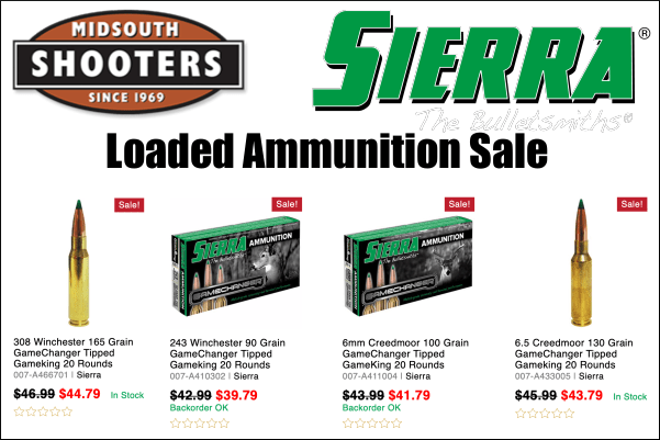 Sierra ammunition sale