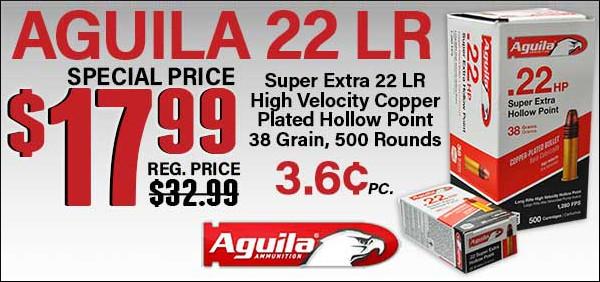 aguila .22 LR 22LR rimfire HP high velocity ammo ammunition sale Midsouth