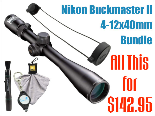 Nikon Bushmaster II ii scope optic deal sale 4-12x40 amazon