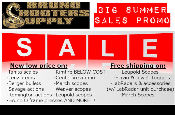 Bruno shooters supply summer sale scopes actions berger bullets