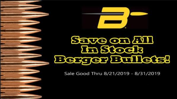berger bullet sale