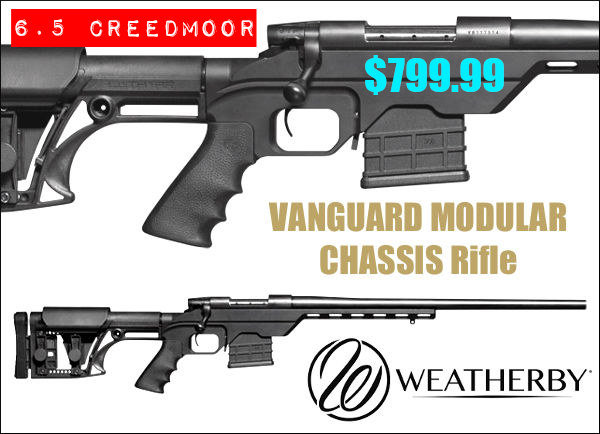 Weatherby Vanguard Modular rifle 6.5 Creedmoor