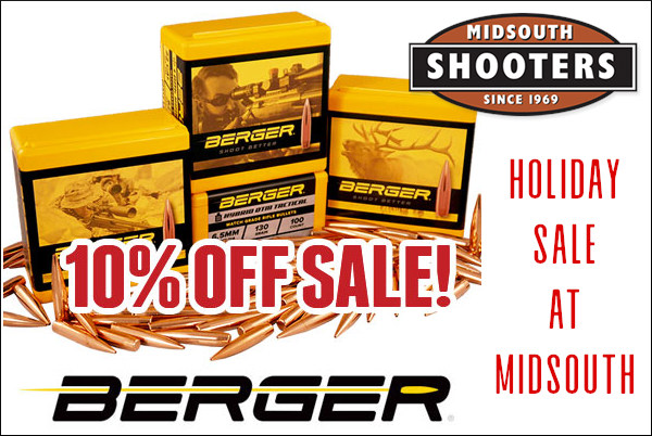 berger bullets 10% off sale