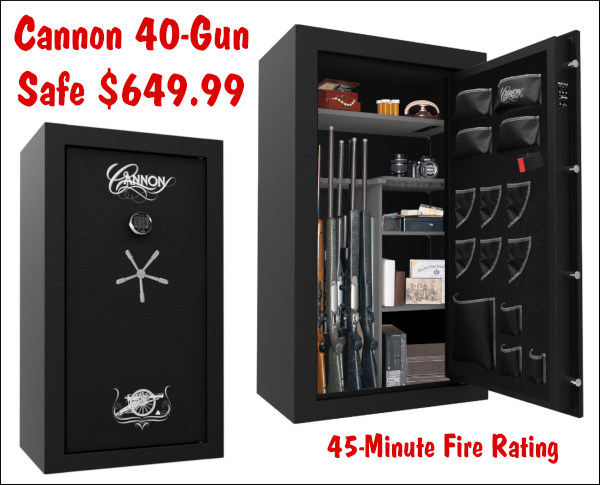 Cannon 40-gun security safe gunsafe fire rated