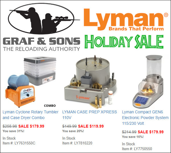 Lyman products sale Graf Sons grafs.com discount