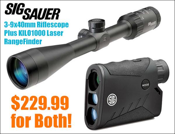 Sig Sauer Whiskey 3 III 3-9x40mm Kilo1000 1000 laser rangefinder