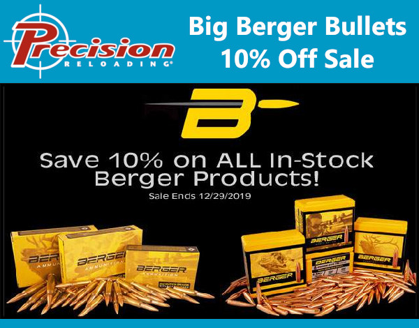 precision reloading berger sale
