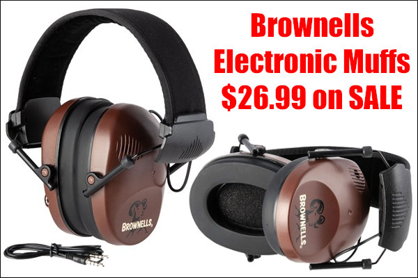 Brownells electronic premium muffs discount sale ear protection