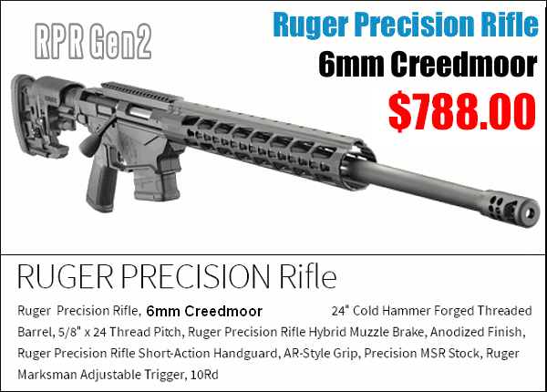 Ruger Precision Rifle 6.5 Creedmoor PRS production class