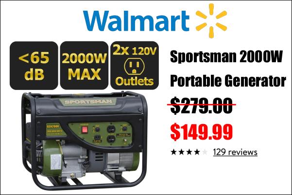 2000w Generator Walmart Sportsman
