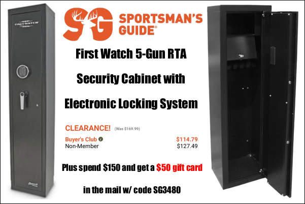 First Watch 5 gun cabinet