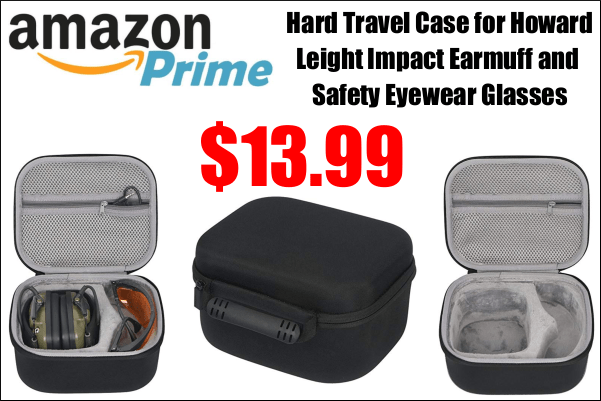 ear muffs eye protection travel case zippered carrier