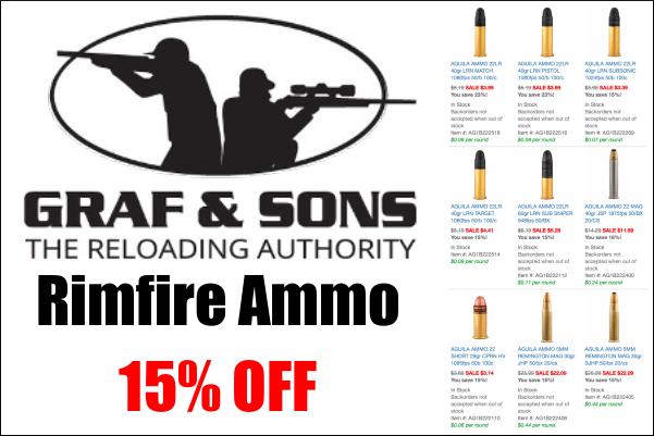 15% off rimfire ammo