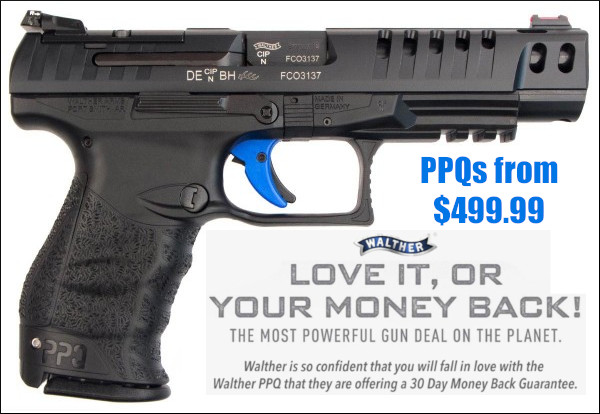 Walther PPQ M2 9mm Match Target money back Guarantee sale promotion