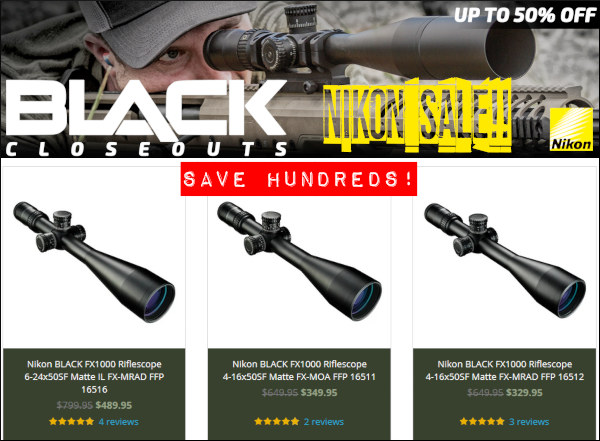 Nikon black scope sale