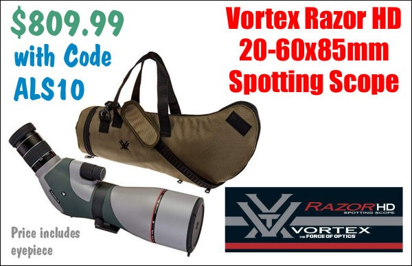 Vortex Razor 20-60x85mm 20x60 Spotter Sale Discount Spotting Scope