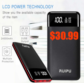 USB 24000 mah battery charging
