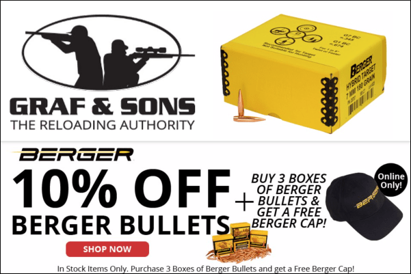 berger graf sons hybrid match bullet sale