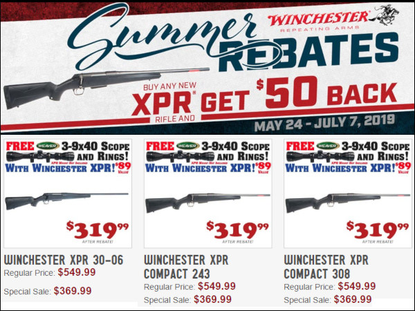 winchester xpr rifle sale