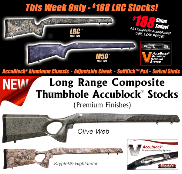 stockys stocks LRC long range composite accublock