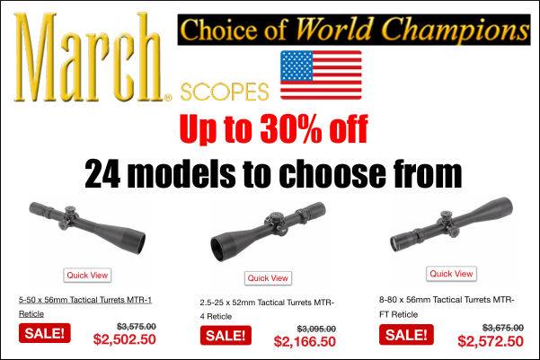 March Optics Sale