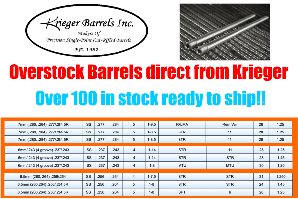 krieger barrels
