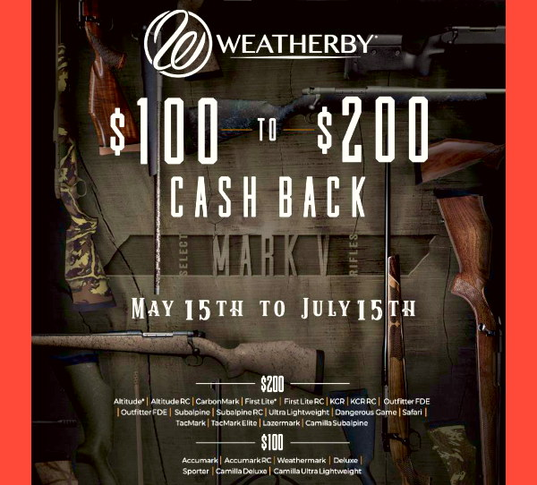 Weatherby Rifle Rebate