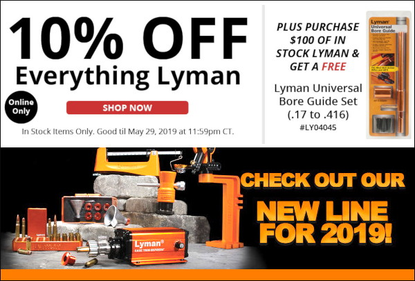 Lyman Graf's graf case prep reloading press 10% off Memorial day BoreCam Xpress