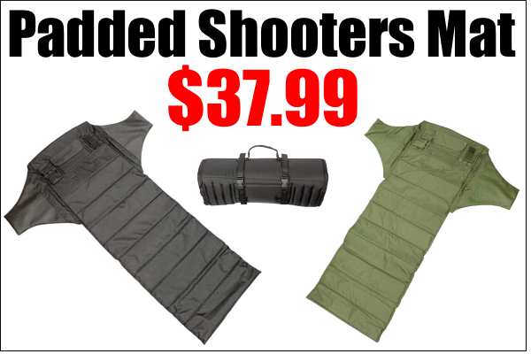 redneck roll-up padded shooting mat