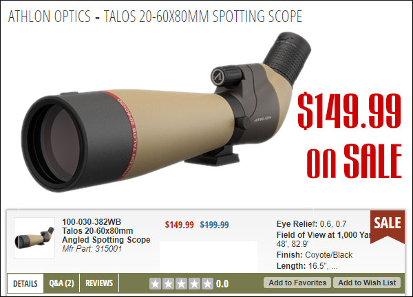 brownells athlon 40-50x80mm spotting scope sale