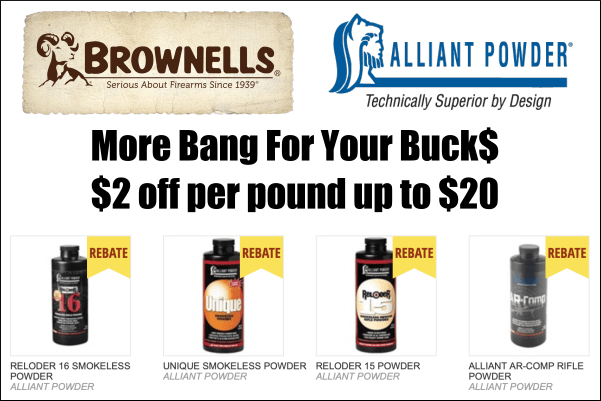 alliant powder rebate