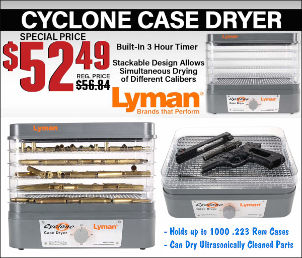 lyman cyclone cartridge brass case dryer midsouth sale