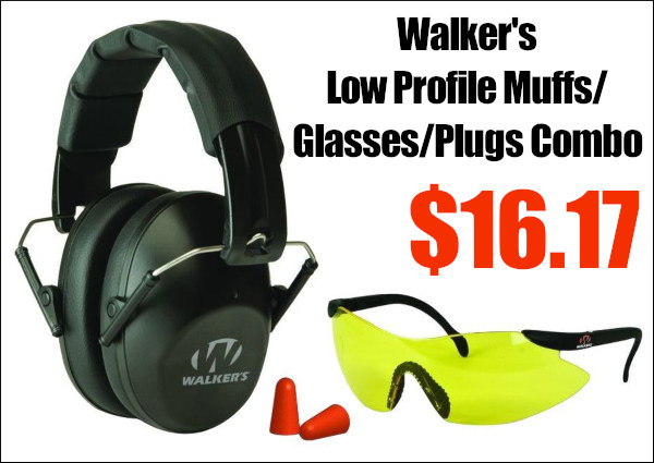 Walker low profile ear muffs eye protection glasses sale