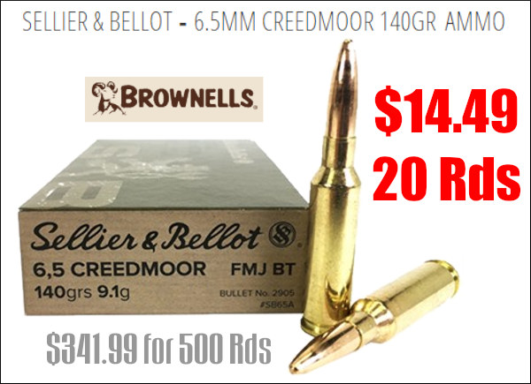 Sellier & Bellot 6.5mm Creedmoor ammo tactical PRS