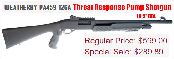 Weatherby 12ga threat response shotgun
