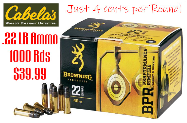 Browning .22 LR Aguila rimfire discount ammunition ammo
