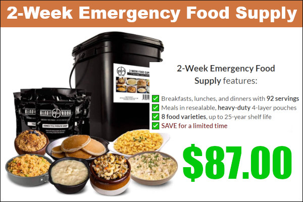 emergency food reserver supply meals Patriot