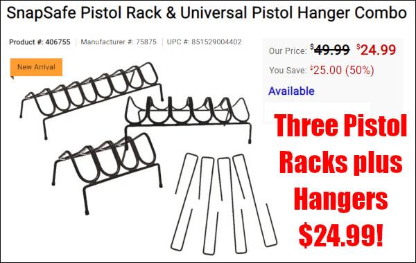 midwayusa snap safe pistol racks hornady hangers
