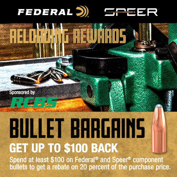 Federal Speer Bullet rebate 20% OFF