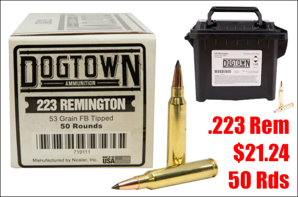 midwayusa dogtown nosler .223 Rem ammo varmint ammunition